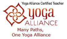 Yoga Alliance logo, Yoga Alliance certified teacher.